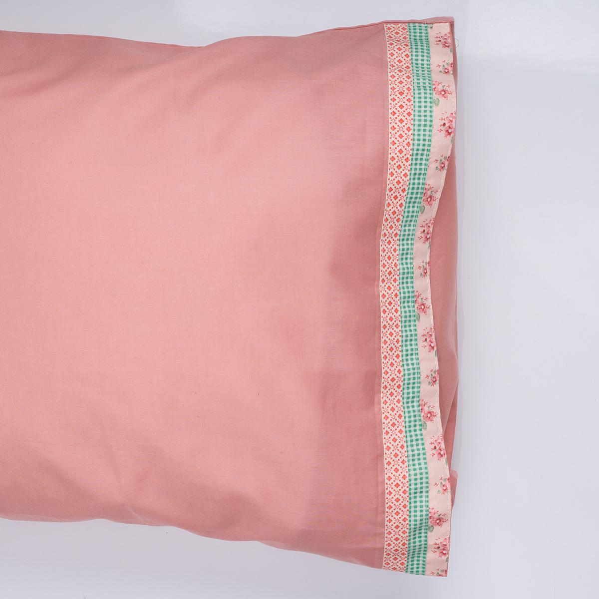 Ζεύγος Μαξιλαροθήκες White Fabric Kitty Pink