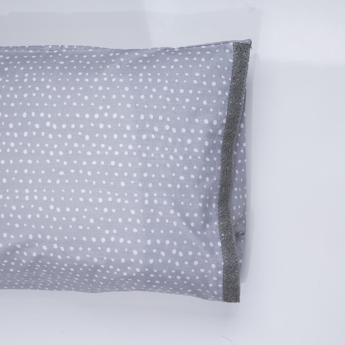 Ζεύγος Μαξιλαροθήκες White Fabric Dottie Grey