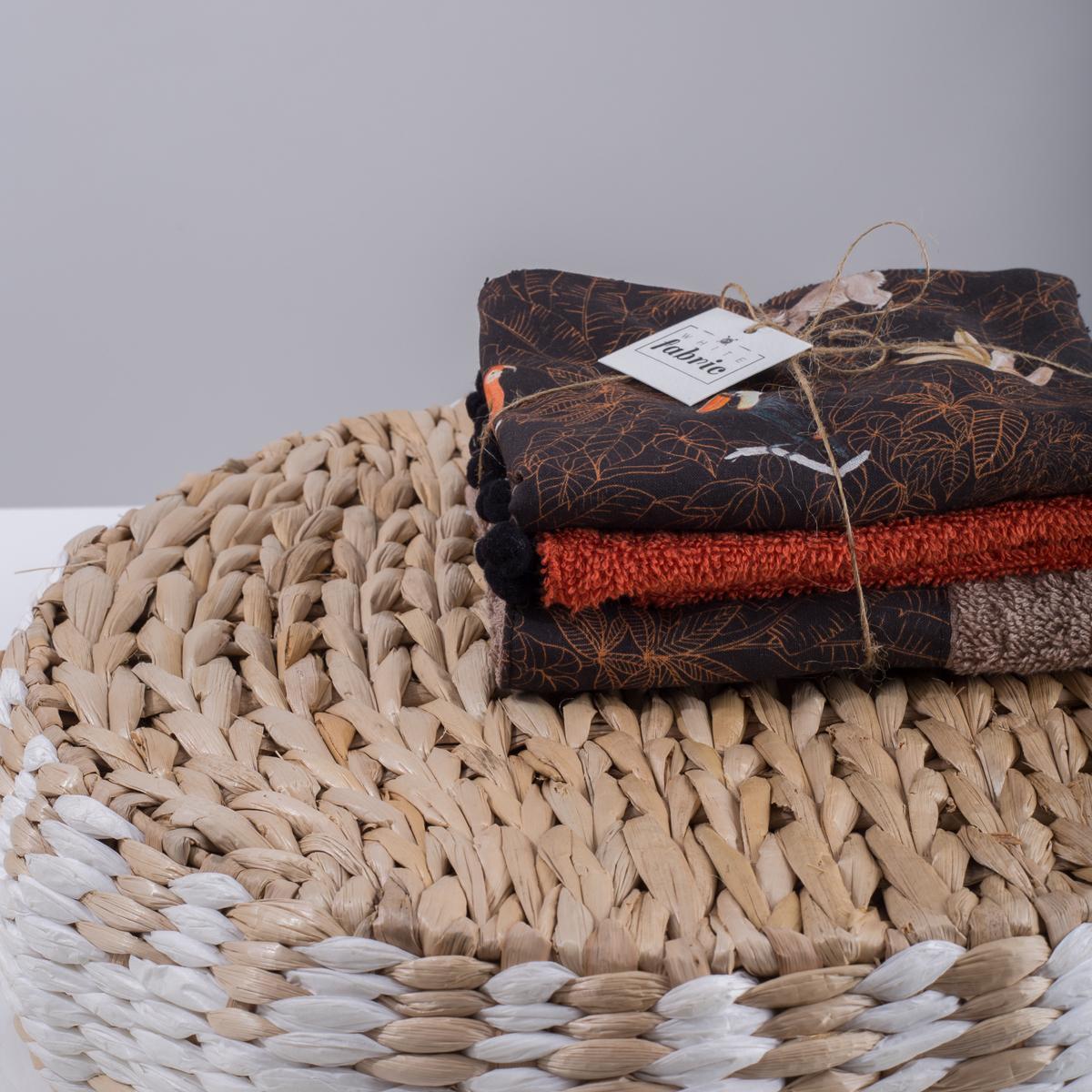 Πετσέτες Χεριών (Σετ 3τμχ) White Fabric Yasa Multi