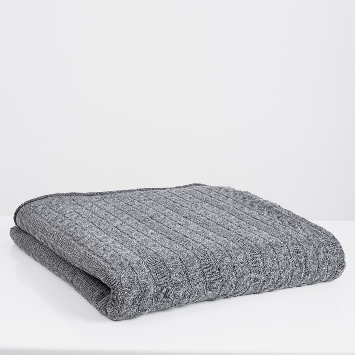 Κουβέρτα Καναπέ Πλεκτή White Fabric Ada Grey