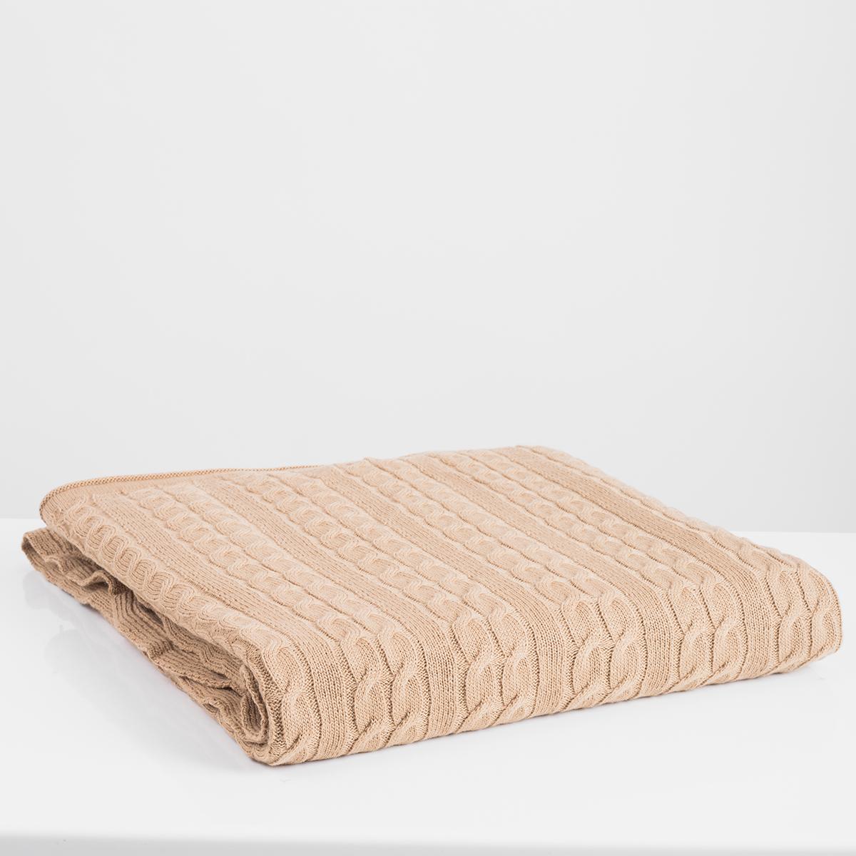 Κουβέρτα Καναπέ Πλεκτή White Fabric Ada Beige