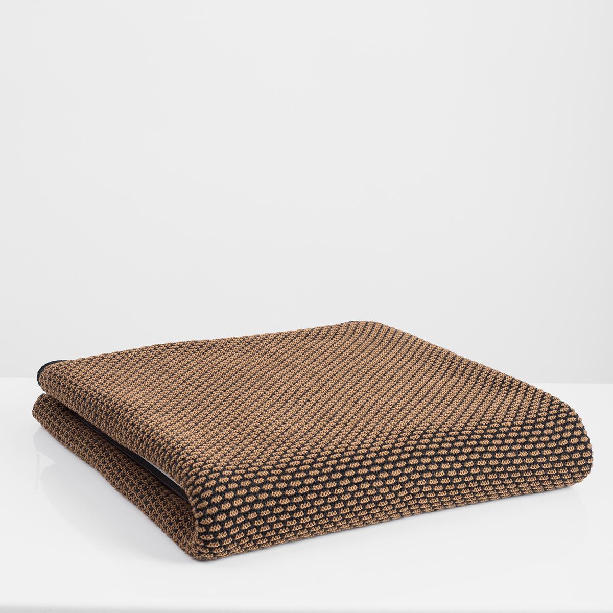 Κουβέρτα Καναπέ Πλεκτή White Fabric Parker Brown