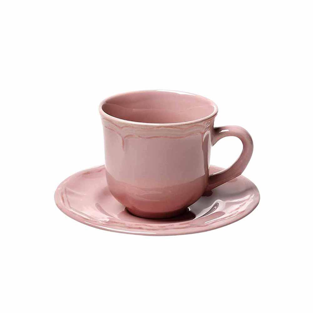 Φλυτζάνι Καφέ 100ml + Πιατάκι Espiel Antique Pink HUN209K6