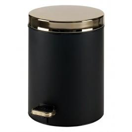 Κάδος Απορριμμάτων (20x28) PamCo 5Lit 105 Black Matte/Gold