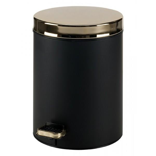 Κάδος Απορριμάτων (20x28) PamCo 5Lit 105 Black Matte/Gold
