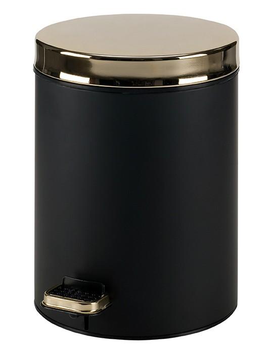 Κάδος Απορριμάτων (20x28) PamCo 5Lit 105 Black/Gold