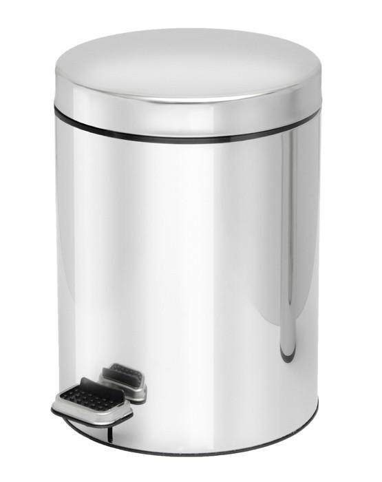 Κάδος Απορριμμάτων (20x28) PamCo 5Lit 135 Inox home   μπάνιο   κάδοι απορριμμάτων
