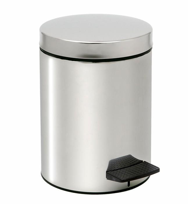 Κάδος Απορριμμάτων (20x28) PamCo 5Lit 136 Inox home   μπάνιο   κάδοι απορριμμάτων