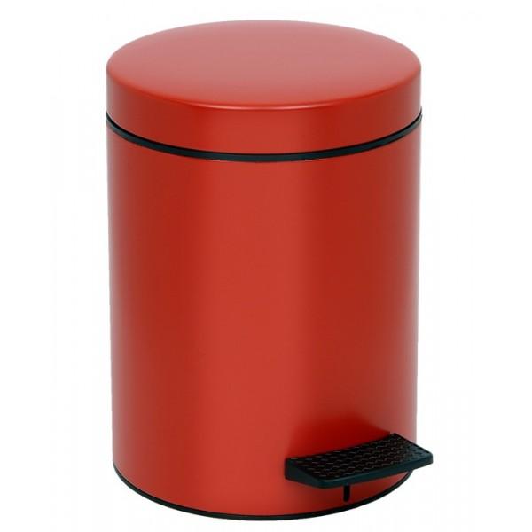Κάδος Απορριμμάτων (20x28) PamCo 5Lit 96 Red Matte
