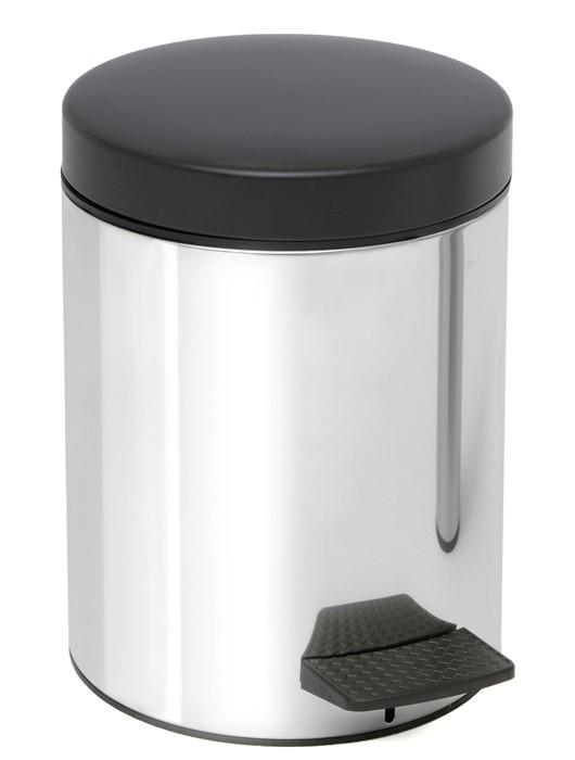 Κάδος Απορριμμάτων (20x28) PamCo 5Lit 97 Inox home   μπάνιο   κάδοι απορριμμάτων