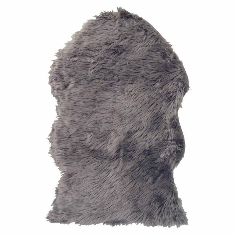 Γούνινο Πατάκι (60x90) Viopros Μουτόν Γκρι