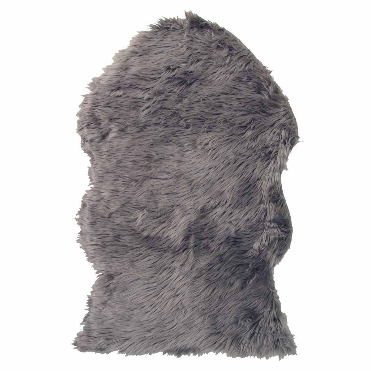 Γούνινο Πατάκι (60×90) Viopros Μουτόν Γκρι