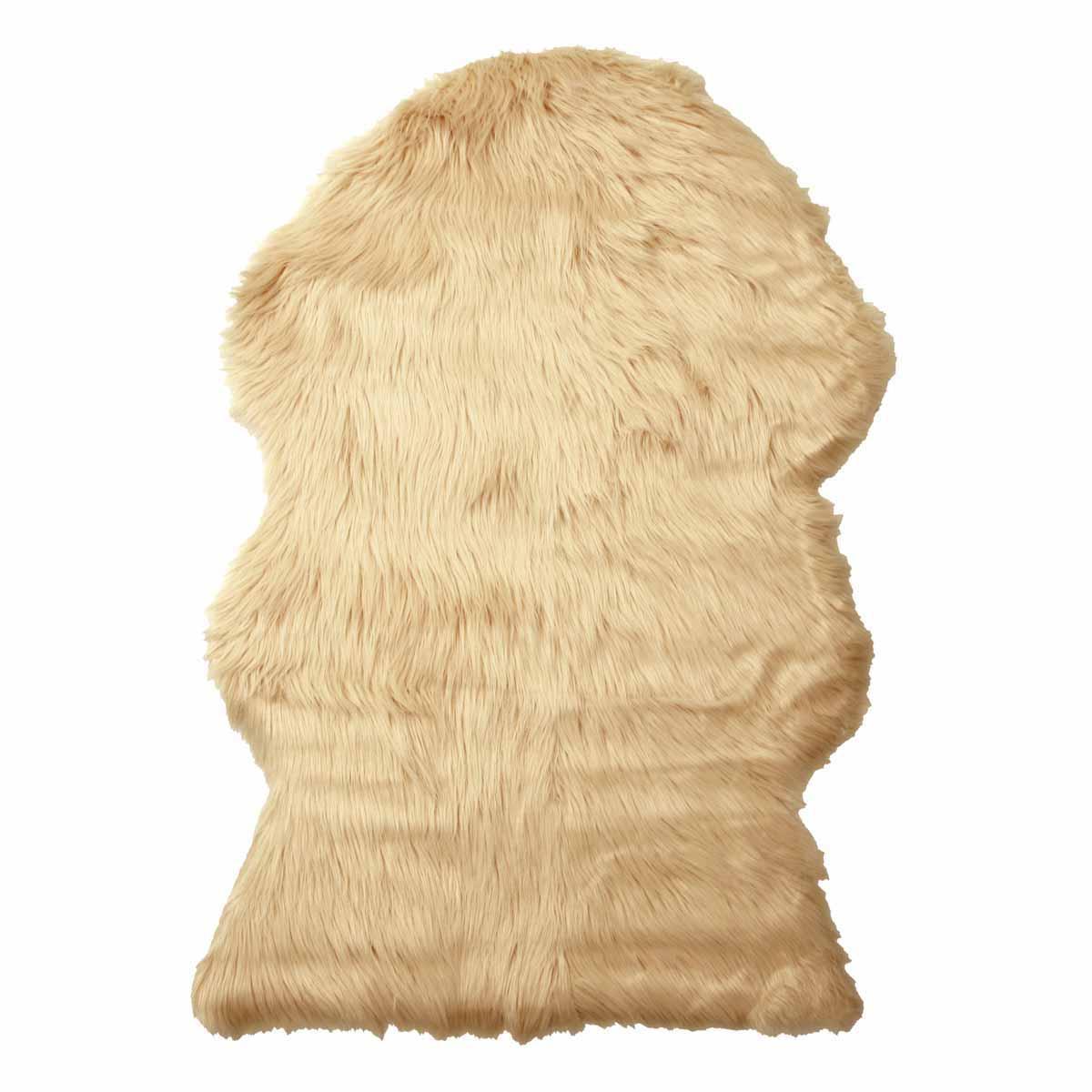 Γούνινο Πατάκι (60×90) Viopros Μουτόν Εκρού