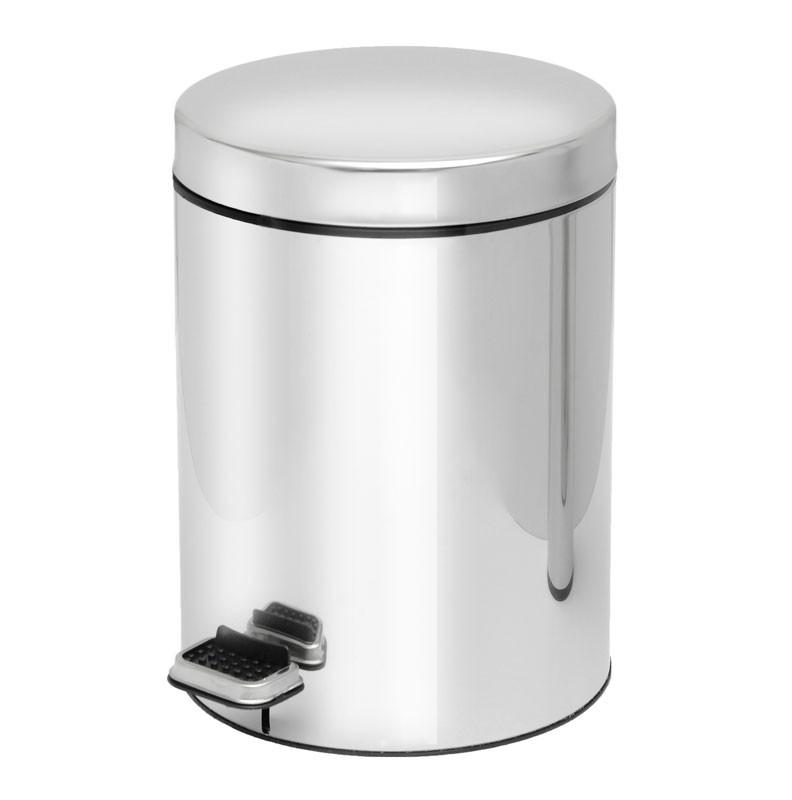 Κάδος Απορριμμάτων (23x32) PamCo 8Lit 501 Inox home   μπάνιο   κάδοι απορριμμάτων