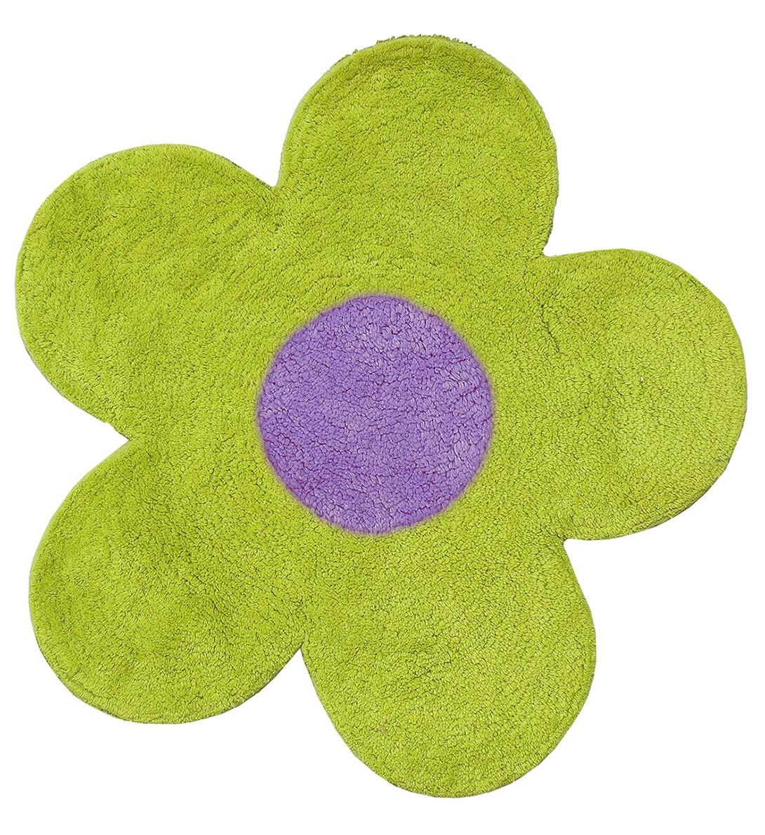 Πατάκι Μπάνιου (60x60) San Lorentzo DBL Face Daisy Lime/Purple home   μπάνιο   πατάκια μπάνιου