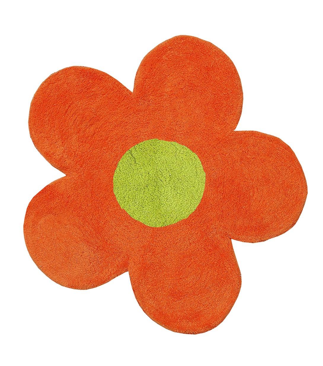 Πατάκι Μπάνιου San Lorentzo DBL Face Daisy Orange/Lime