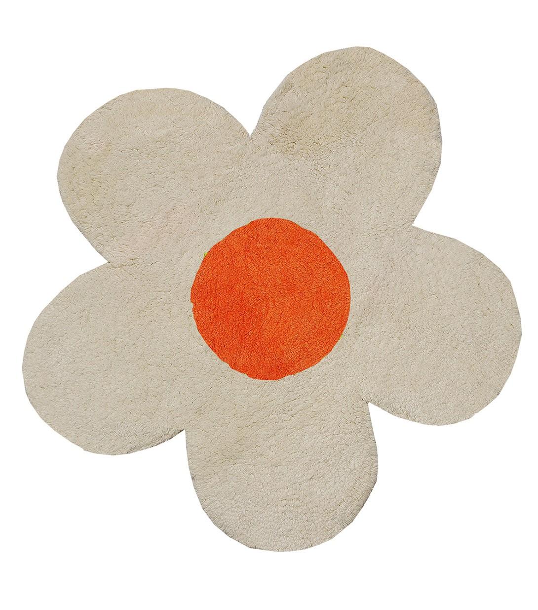 Πατάκι Μπάνιου (60×60) San Lorentzo DBL Face Daisy Ecru/Orange