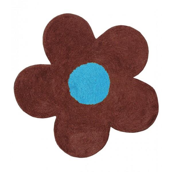 Πατάκι Μπάνιου (60x60) San Lorentzo DBL Face Daisy Brown/Turquoise