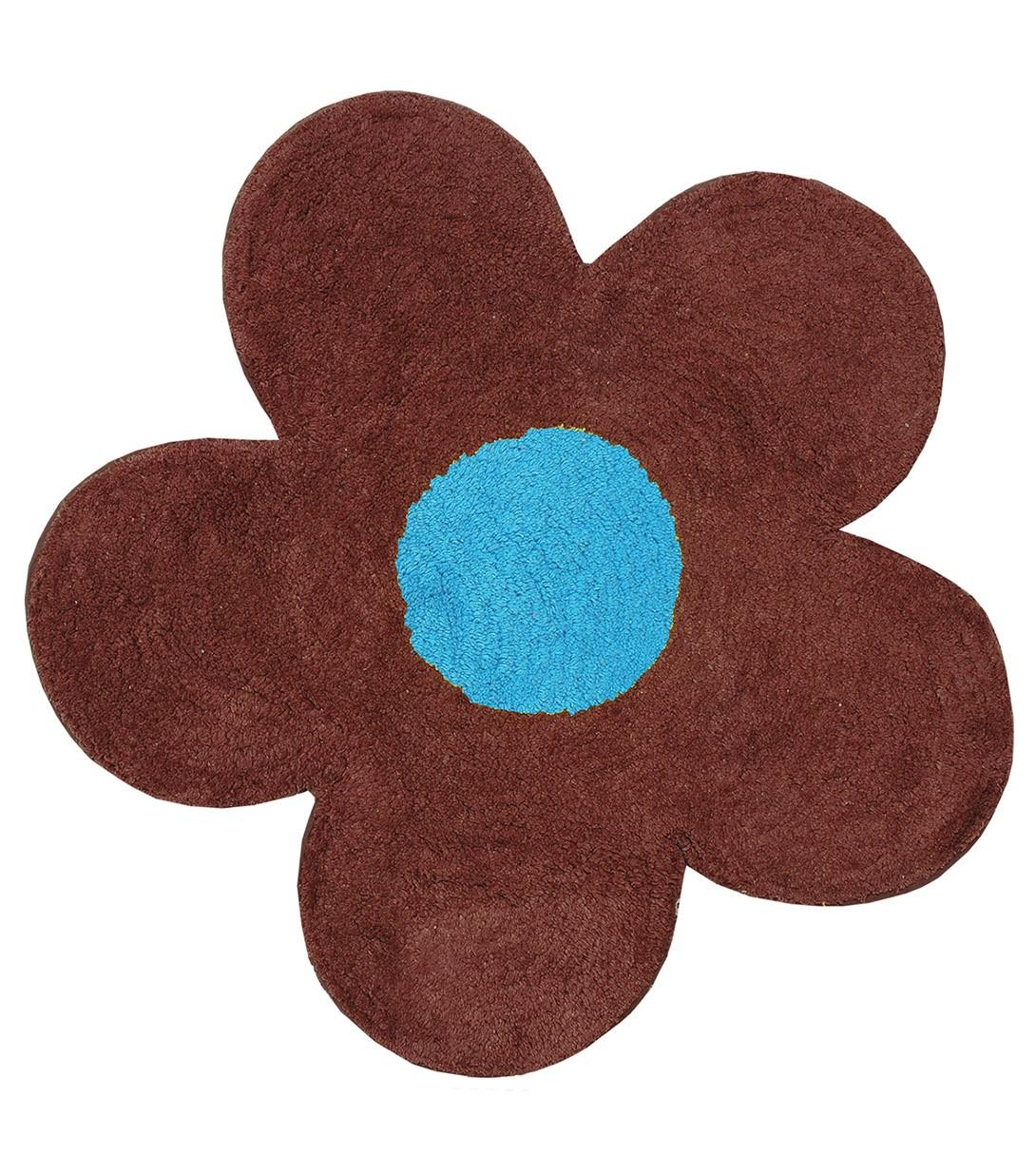 Πατάκι Μπάνιου San Lorentzo DBL Face Daisy Brown/Turquoise
