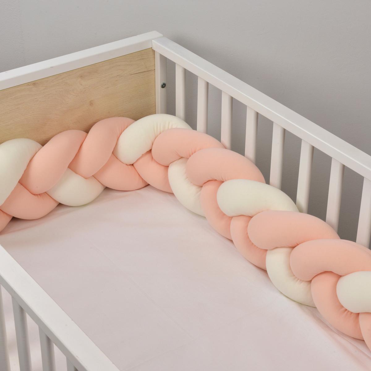 Πάντα Κούνιας – Πλεξούδα Baby Oliver Des 766 Εκρού-Σομόν