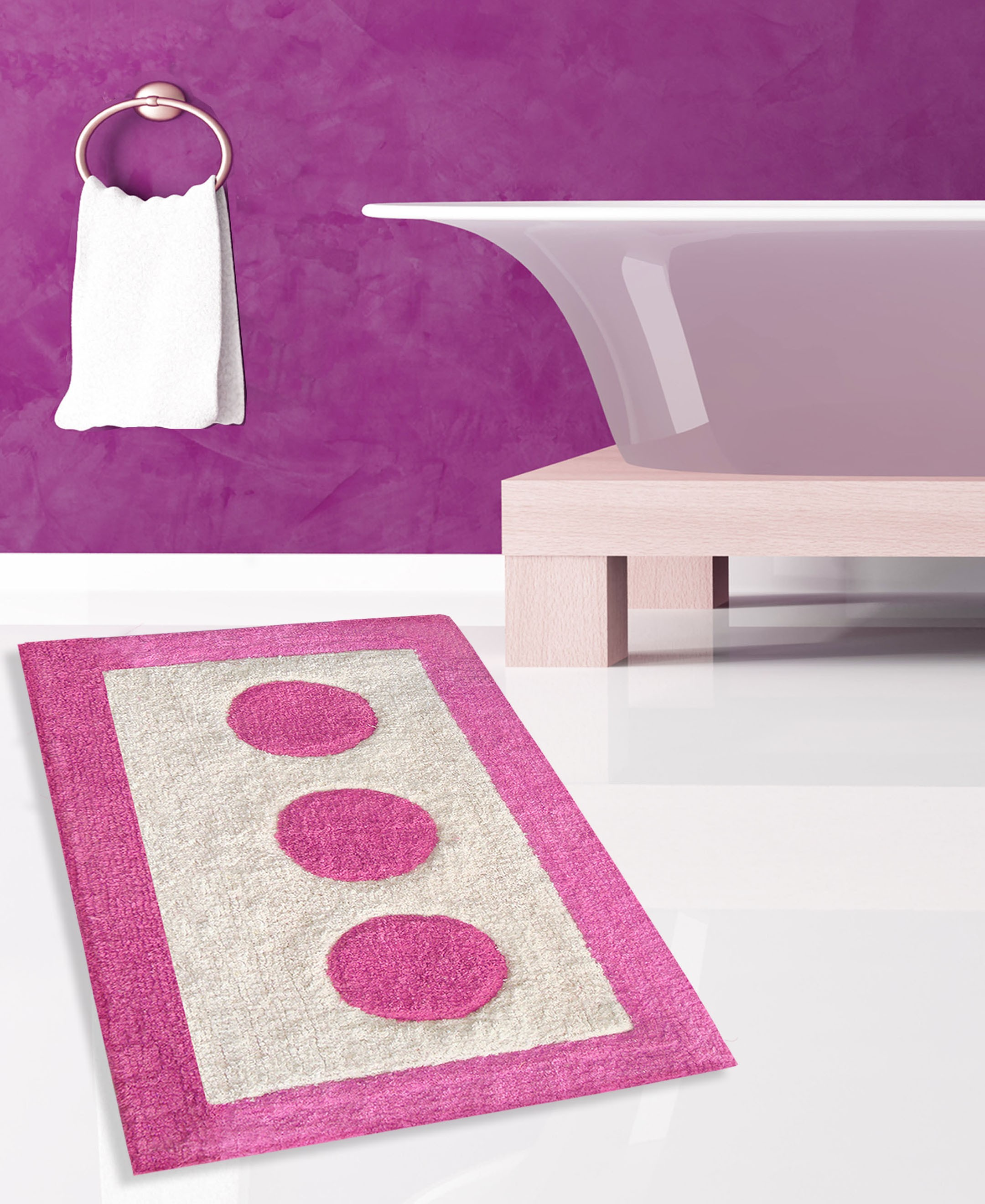 Πατάκι Μπάνιου San Lorentzo Bally Pink