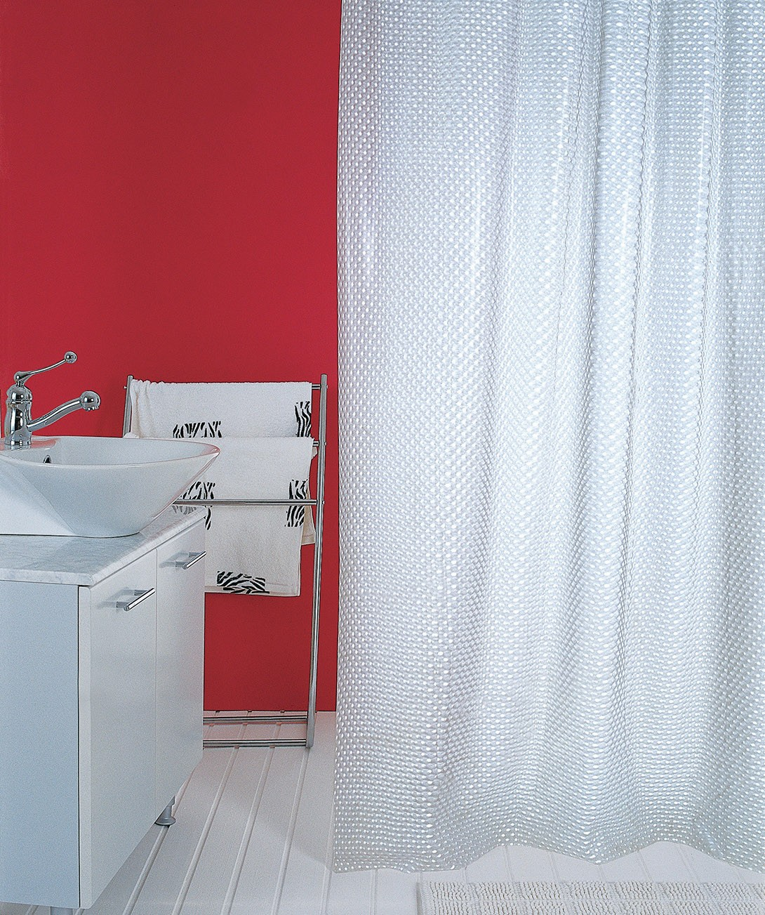 Κουρτίνα Μπάνιου Πλαστική (180x180) San Lorentzo 3D-206