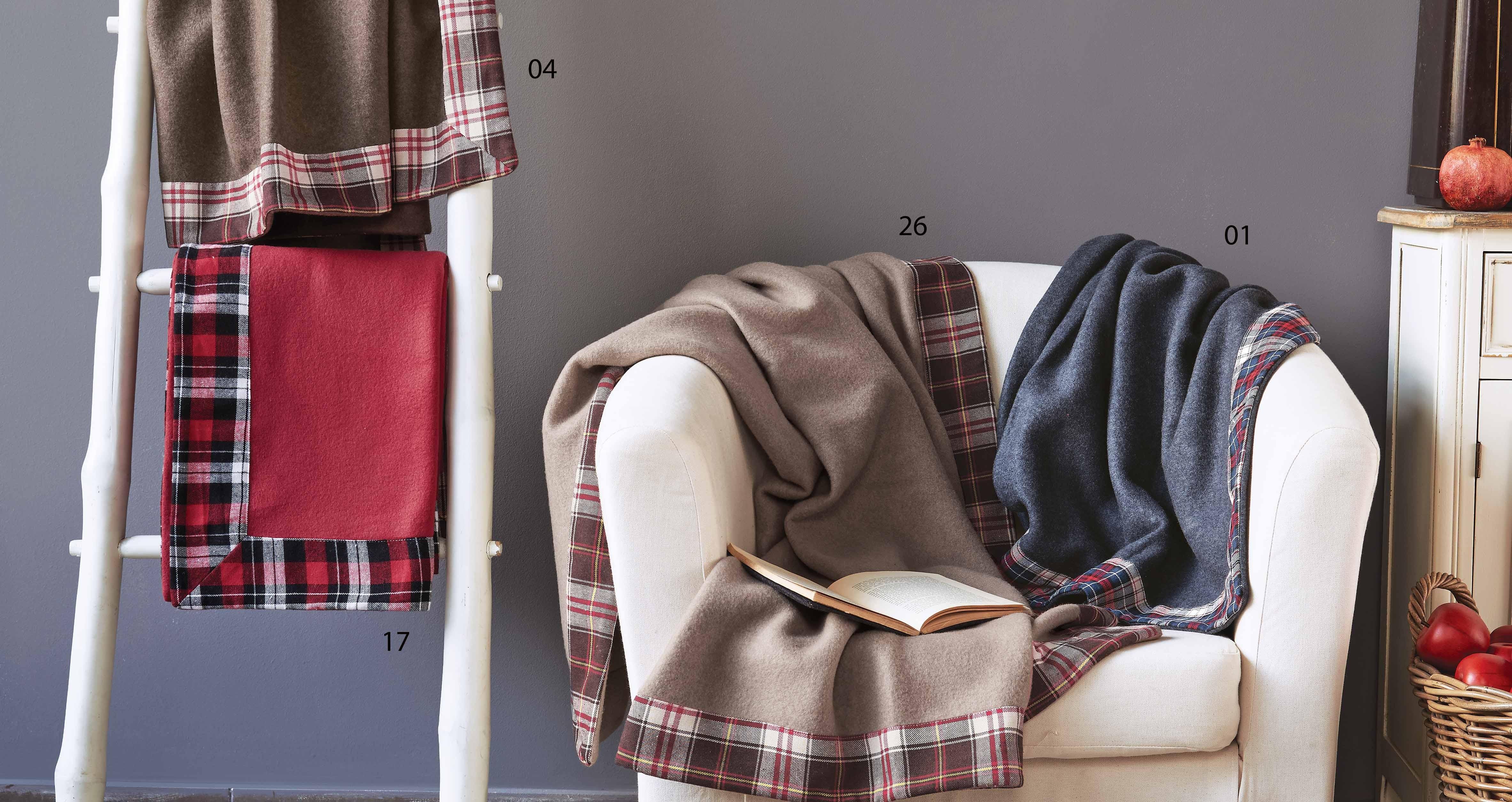 Κουβέρτα Καναπέ Fleece Kentia Stylish Winter