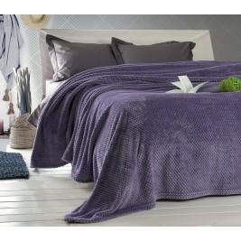 Κουβέρτα Fleece Μονή Rythmos Coral Purple