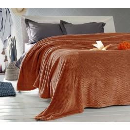 Κουβέρτα Fleece Μονή Rythmos Coral Orange