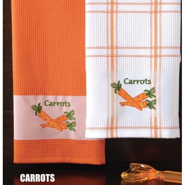 Ποτηρόπανα (Σετ 2τμχ) Rythmos Carrots