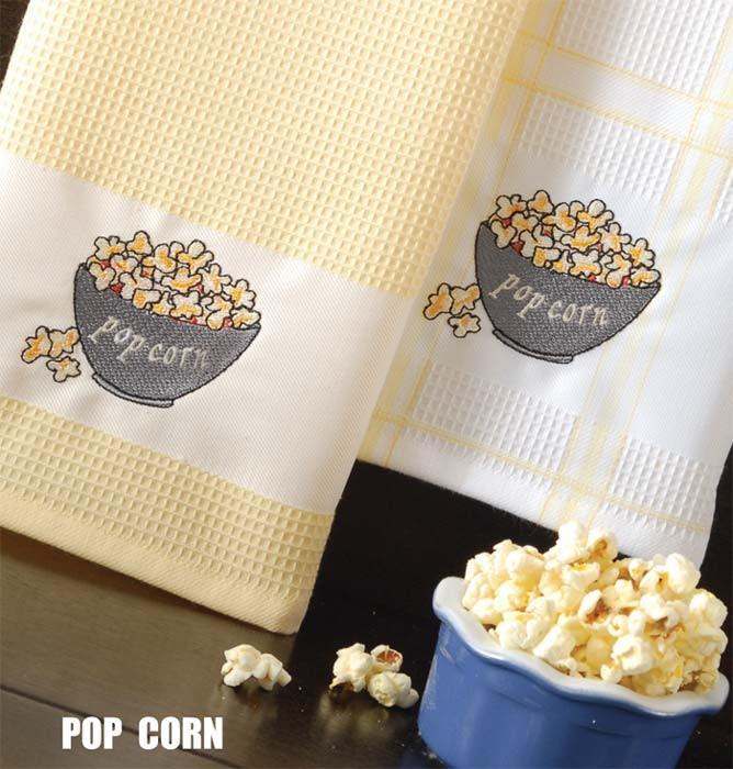 Ποτηρόπανα (Σετ 2τμχ) Rythmos Pop Corn