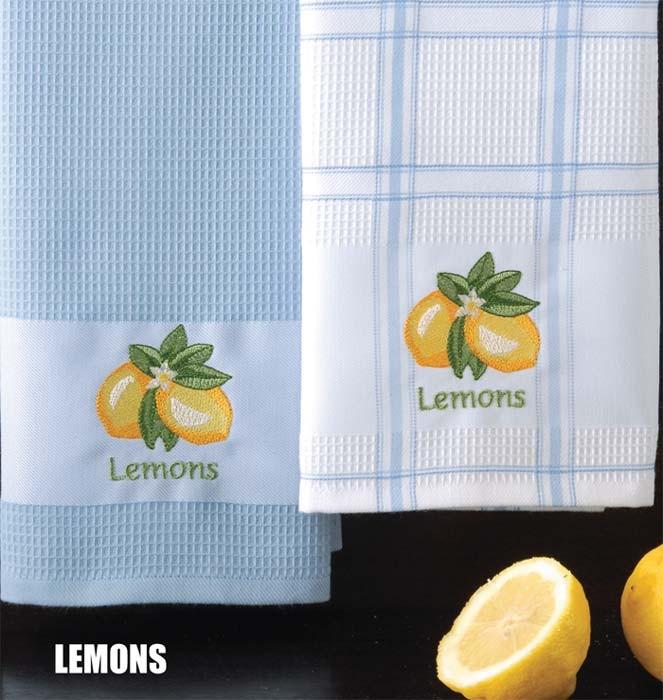 Ποτηρόπανα (Σετ 2τμχ) Rythmos Lemons 41261