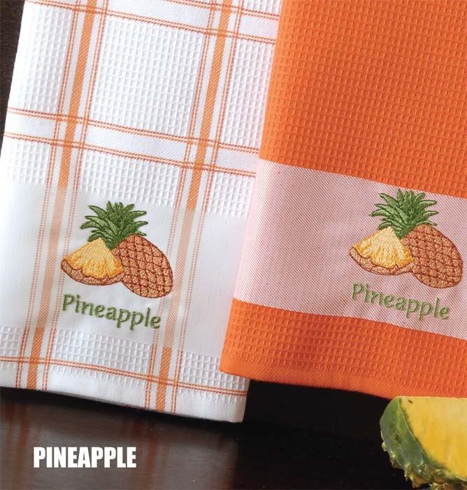 Ποτηρόπανα (Σετ 2τμχ) Rythmos Pineapple