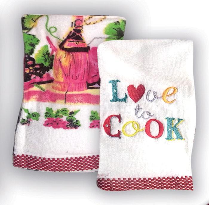 Πετσέτες Κουζίνας (Σετ 2τμχ) Rythmos Love To Cook home   κουζίνα   τραπεζαρία   πετσέτες κουζίνας