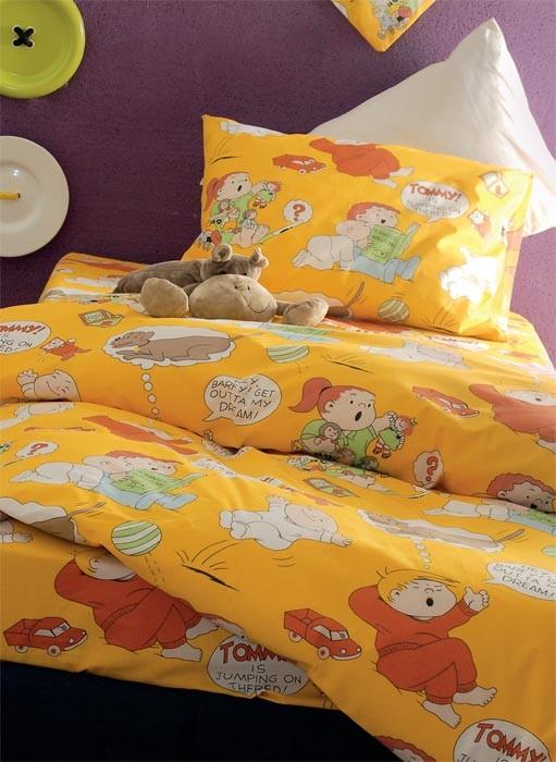 Παπλωματοθήκη Μονή (Σετ) Rythmos Symbol Comic Yellow home   παιδικά   παπλωματοθήκες παιδικές