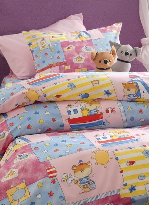 Παπλωματοθήκη Μονή (Σετ) Rythmos Symbol Sailor Pink home   παιδικά   παπλωματοθήκες παιδικές