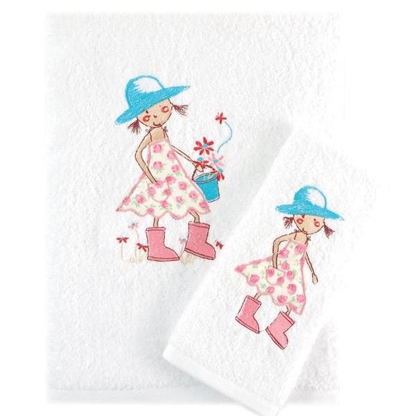 Βρεφικές Πετσέτες (Σετ 2τμχ) Rythmos Florenta Pink