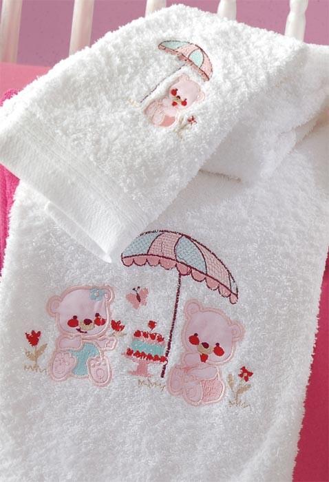 Βρεφικές Πετσέτες (Σετ 2τμχ) Rythmos Cake Pink