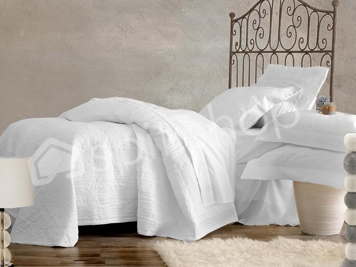 Νυφικό Σετ Σεντόνια + Κουβερλί Rythmos Diaz White home   μόδα γάμου   νυφικά σετ