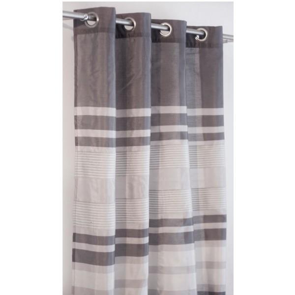 Κουρτίνα (145x260) Με Τρουκς N-0505 Grey
