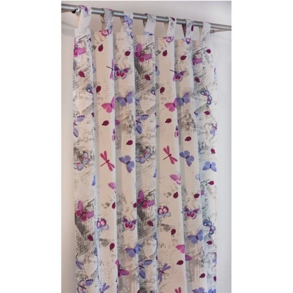 Κουρτίνα (140x260) Με Θηλιές Libelula Lilac