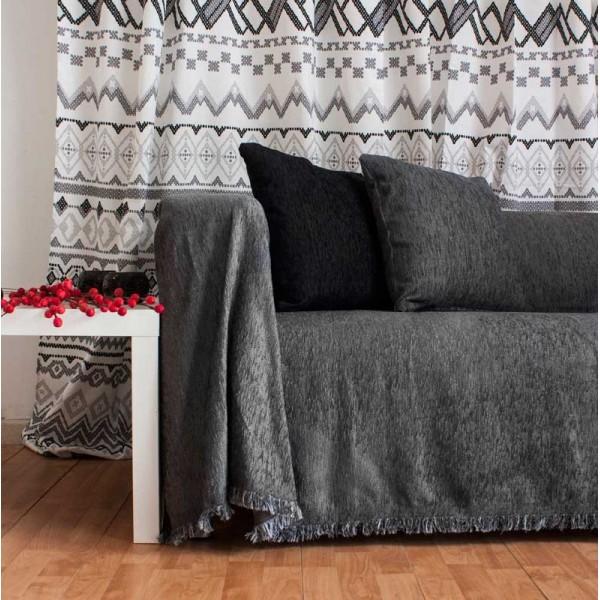 Ριχτάρι Πολυθρόνας (180x180) Chenille Dark Grey