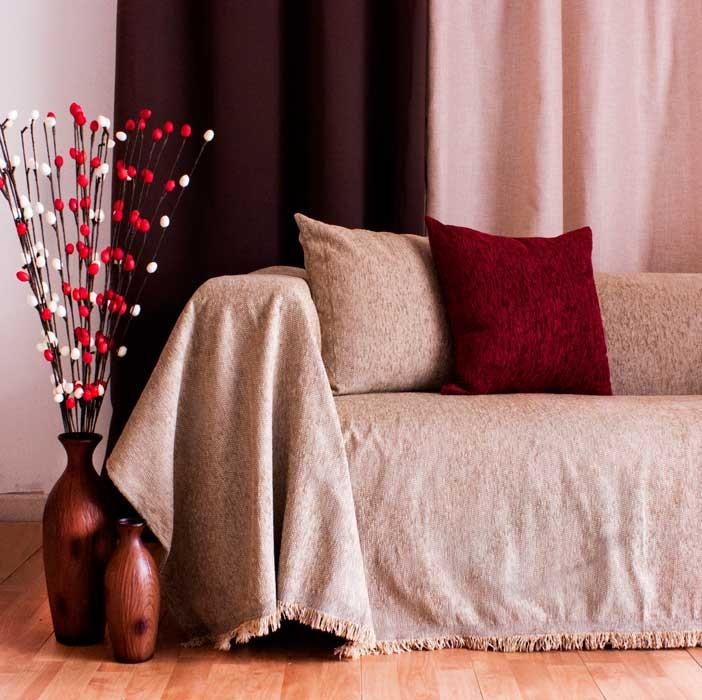 Διακοσμητική μαξιλαροθήκη Chenille Ecru