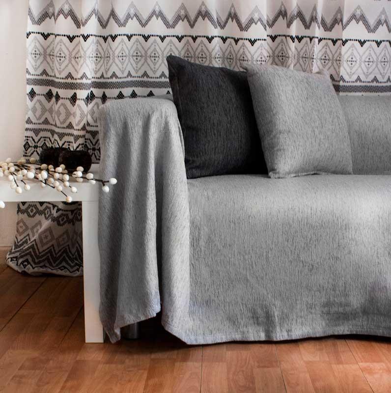 Διακοσμητική Μαξιλαροθήκη Chenille Light Grey