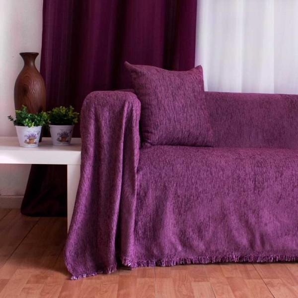 Διακοσμητική μαξιλαροθήκη Chenille Purple
