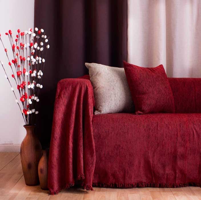 Ριχτάρι Διθέσιου (180x240) Chenille Red