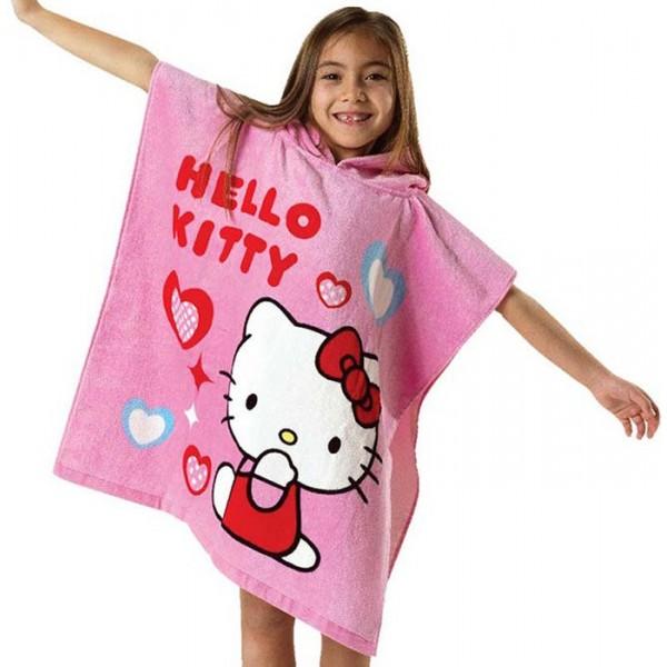 Παιδικό Μπουρνούζι (Poncho) Hello Kitty HK43