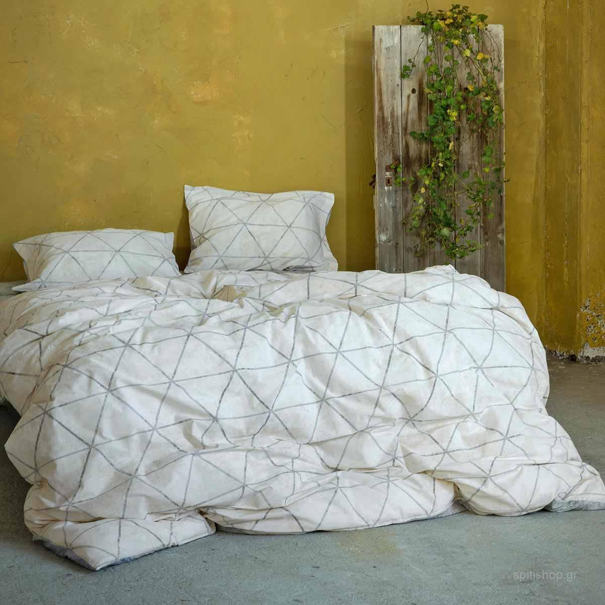 Σεντόνια Υπέρδιπλα (Σετ 220×260) Nima Bed Linen Swank Beige