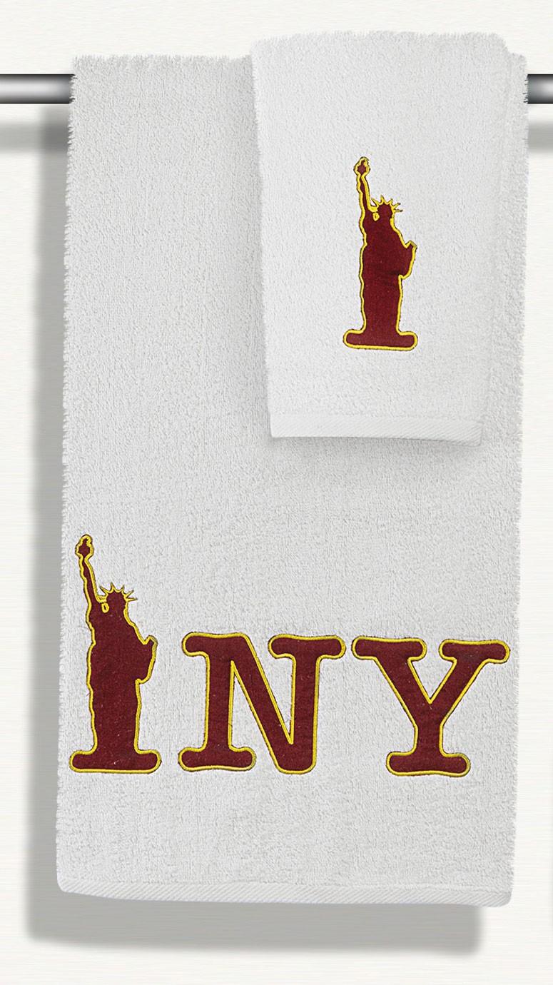 Πετσέτες Μπάνιου (Σετ 2τμχ) Maison Blanche Collage New York 2110