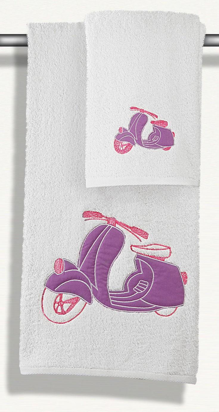 Πετσέτες Μπάνιου (Σετ 2τμχ) Maison Blanche Collage Vespa 2112